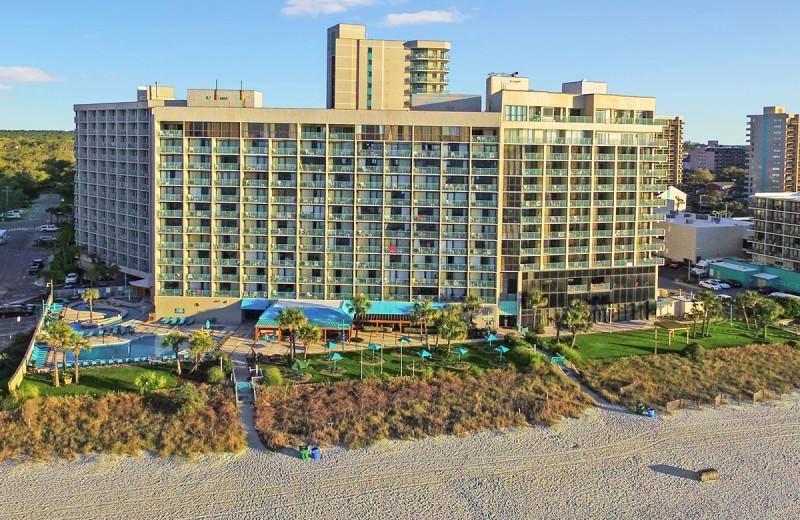 Exterior view of Sand Dunes Resort Hotel.