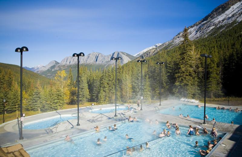 Hot springs at Whistlers Inn.