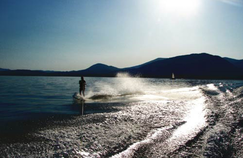 Water skiing at The Lodge at Sandpoint.