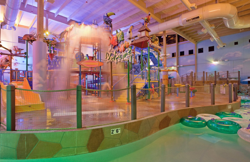 Indoor waterpark at Sheraton Kansas City Sports Complex Hotel.