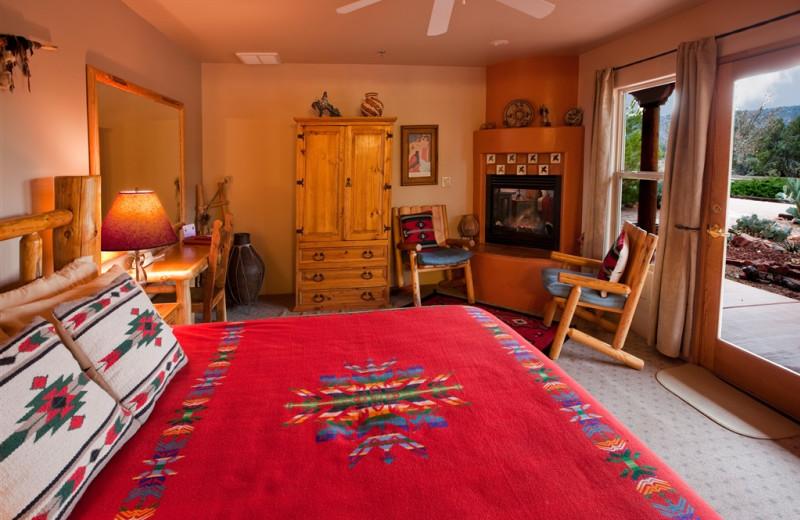 Guest room at Adobe Hacienda Bed & Breakfast.