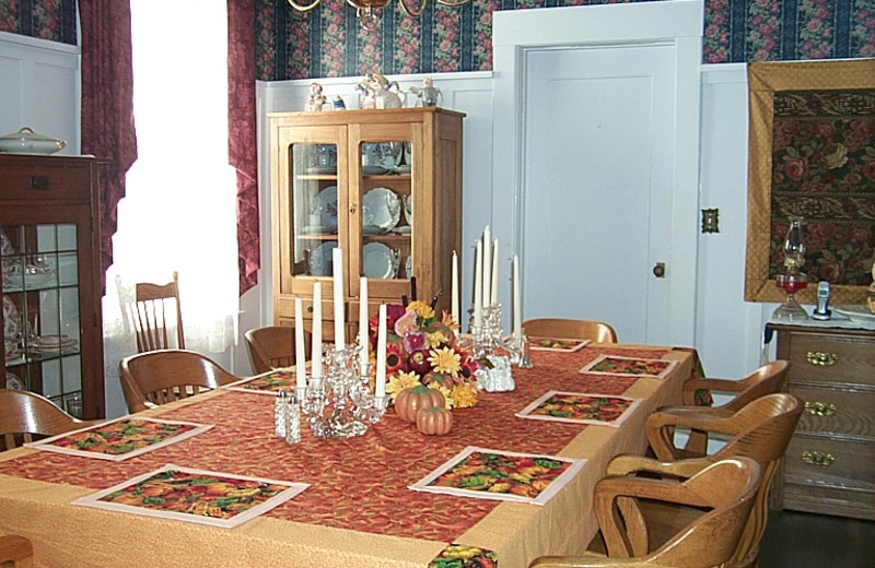 Dining room at Warfield House Bed & Breakfast.