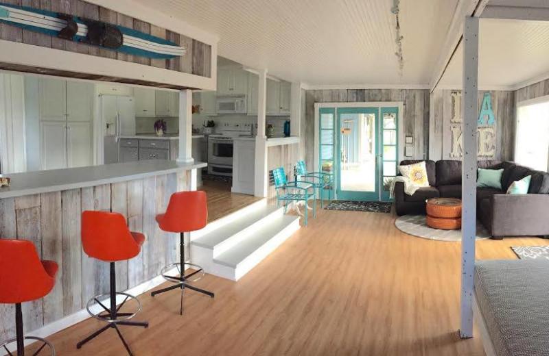 Rental living room at Vacation New Braunfels.