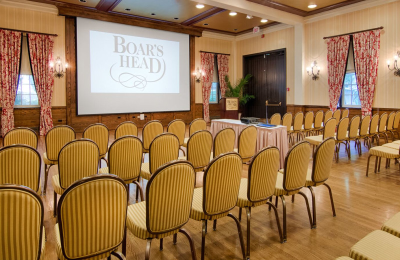 Conference room at Boar's Head Resort.