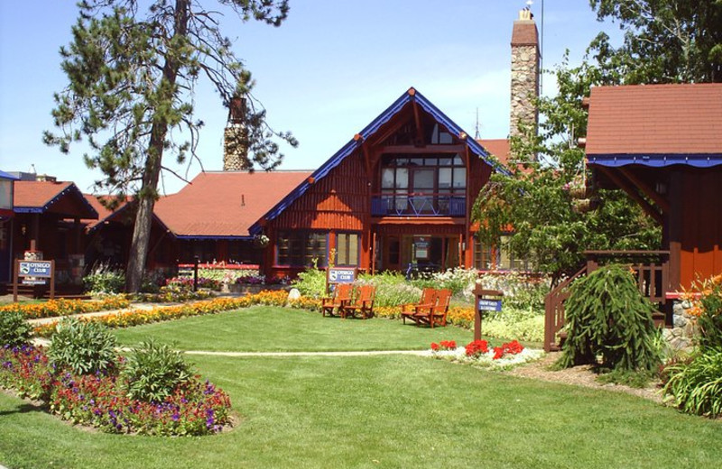 Lodge exterior at Otsego Club and Resort.
