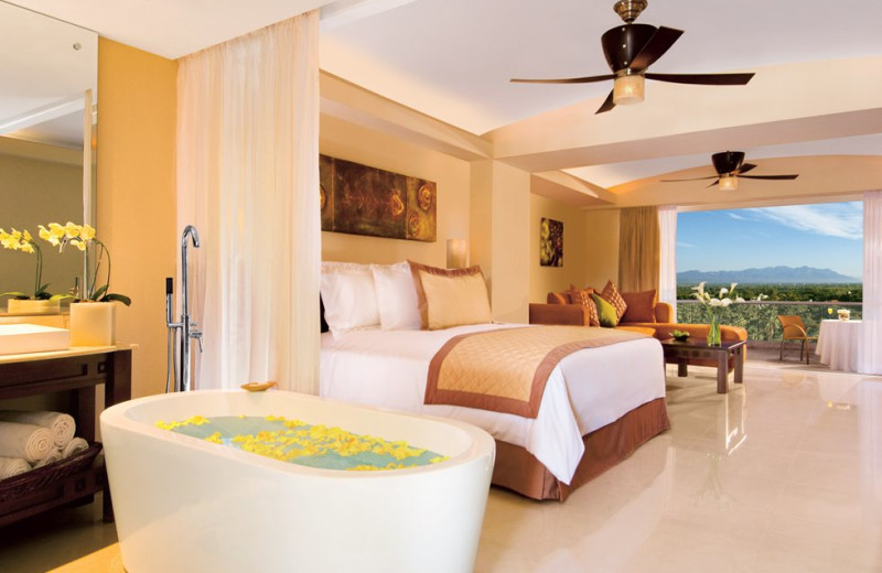 Guest room at Dreams Villamagna Nuevo Vallarta.