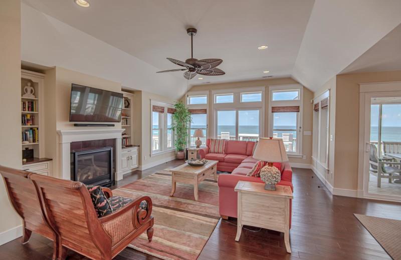 Rental living room at Joe Lamb Jr. & Associates Vacation Rentals.