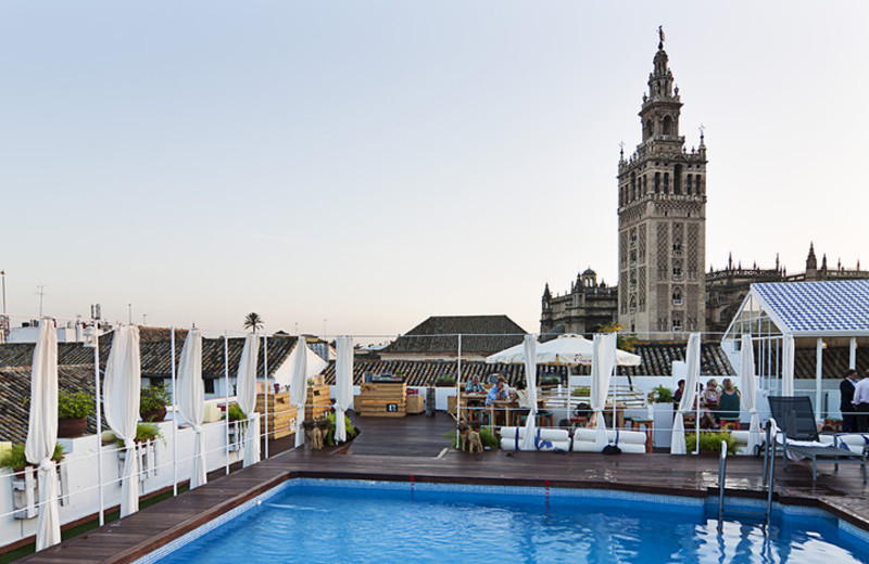 Outdoor pool at Hotel Los Seises.
