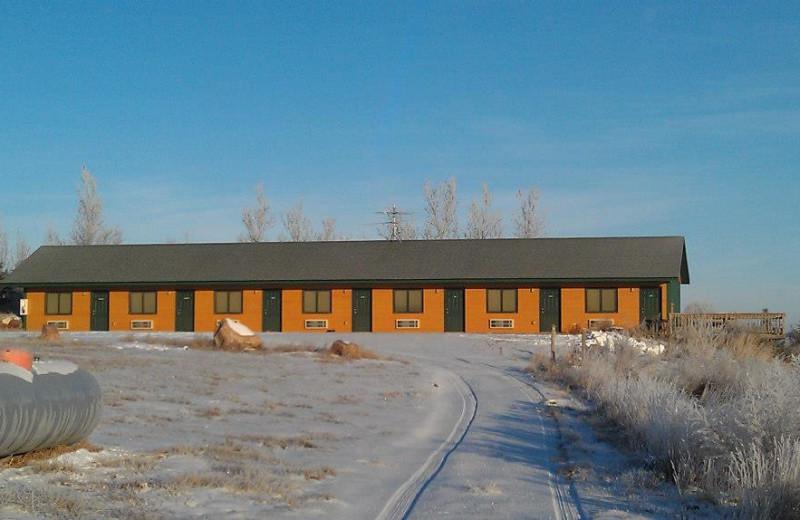 Cabin exterior at Granite Springs Lodge.