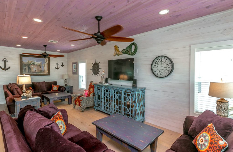 Rental living room at Silver Sands Realty.