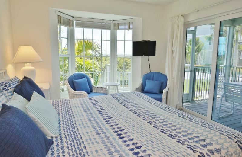 Rental bedroom at Palm Island Resort.