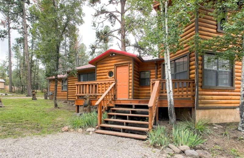 Cabin exterior at Hummingbird Cabins.