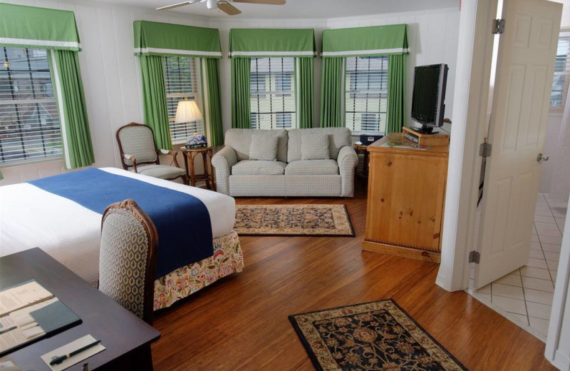 Guest room at The Bellmoor Inn & Spa.