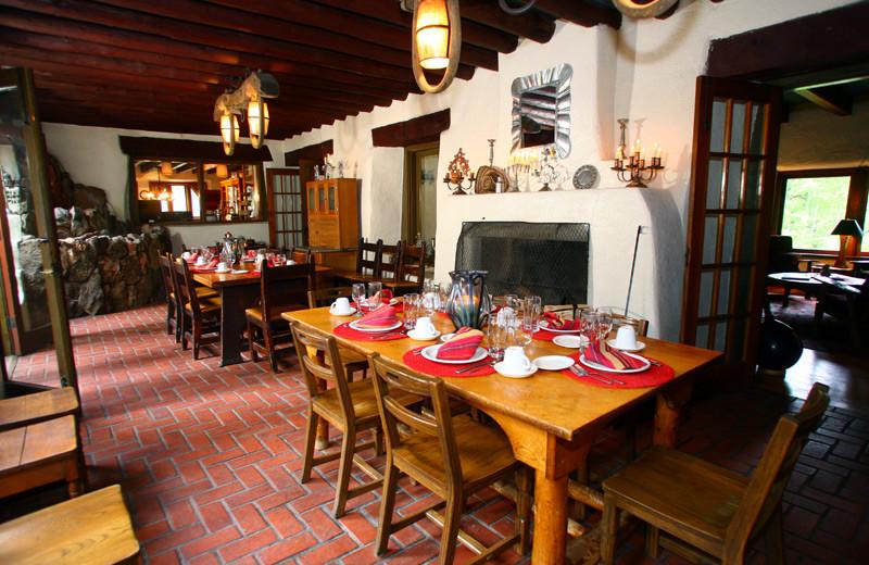 Dining room at Tumbling River Ranch.