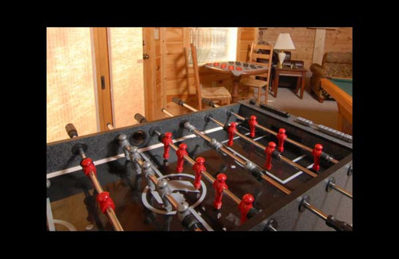 Foosball table at Eden Crest Vacation Rentals, Inc. - Knotty Pines.