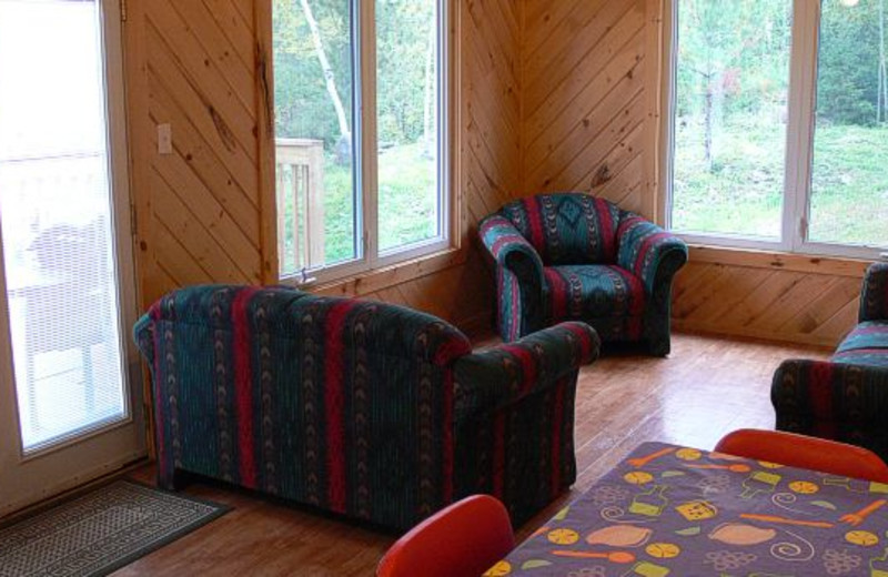 Cottage Living Room at West Nipissing Resort
