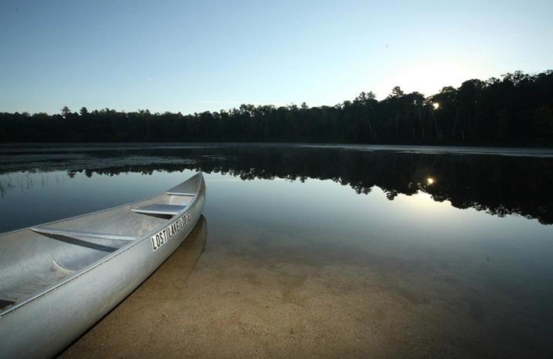 Lake view at Lost Lake Lodge.