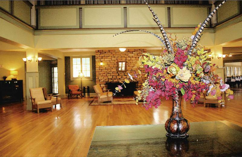 Lobby view at Wildwood Springs Lodge.