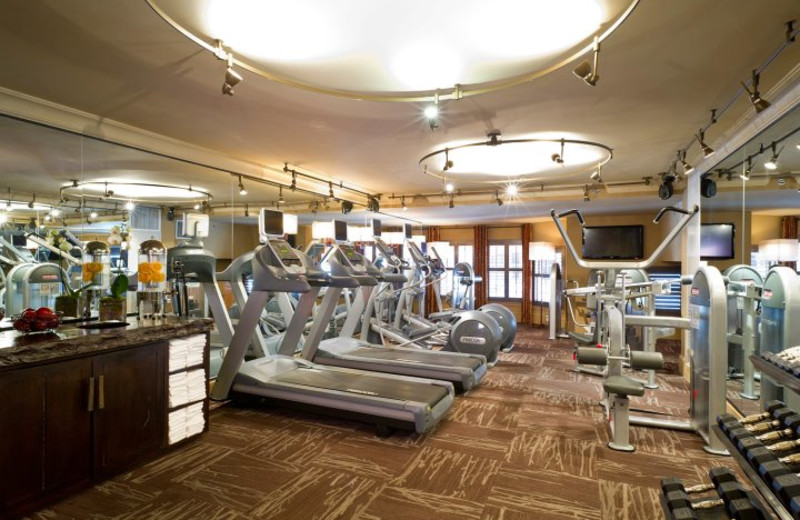Fitness center at the Grand Bohemian Hotel Asheville.