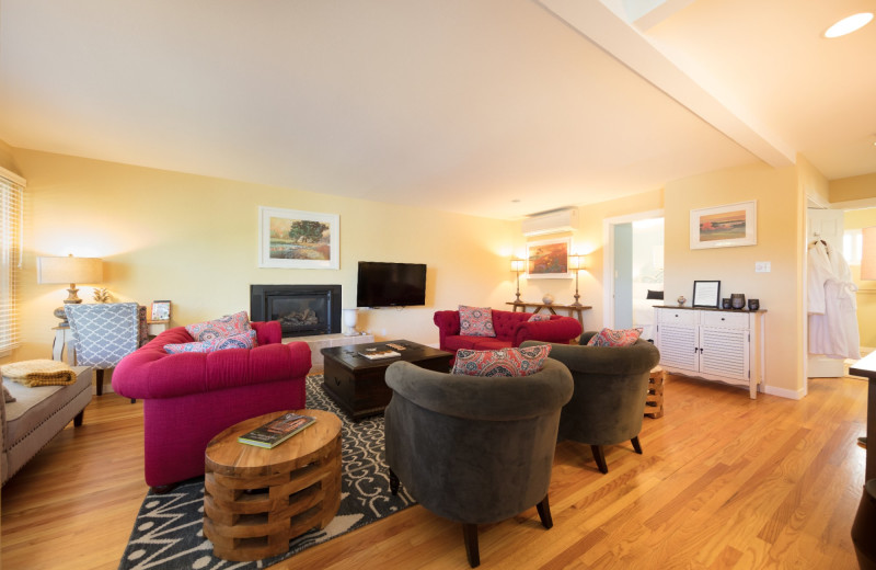 Cottage interior at Aurora Park Cottages.