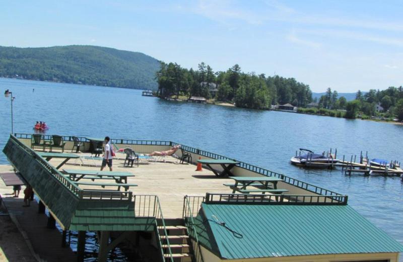 Sun deck at The Depe Dene Resort.