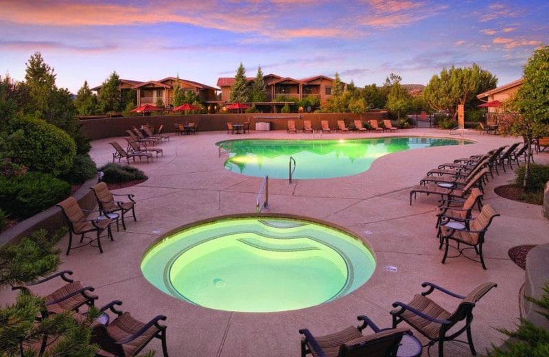 Outdoor pool at Wyndham Sedona.