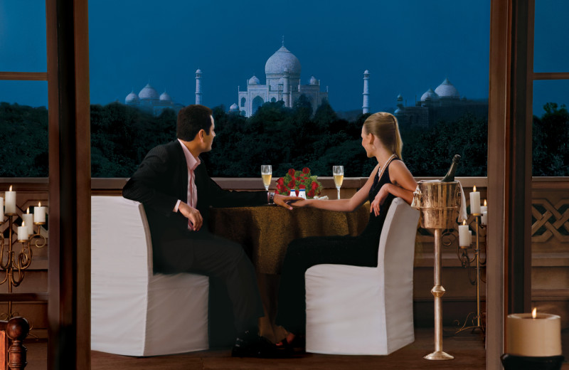 Suite balcony at Amarvilas - An Oberoi Resort.