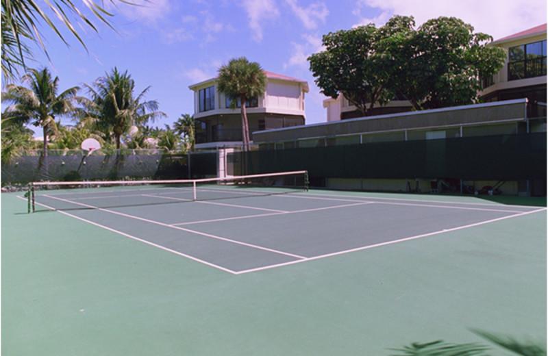 Tennis court at Cocoplum Beach & Tennis Club.