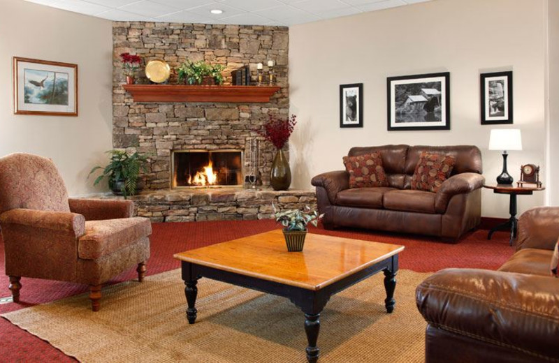 Sitting Area with Fireplace at Ramada Pigeon Forge North
