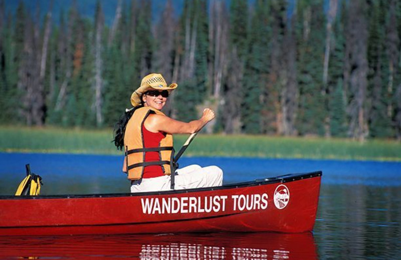 Canoeing at Black Butte Ranch.