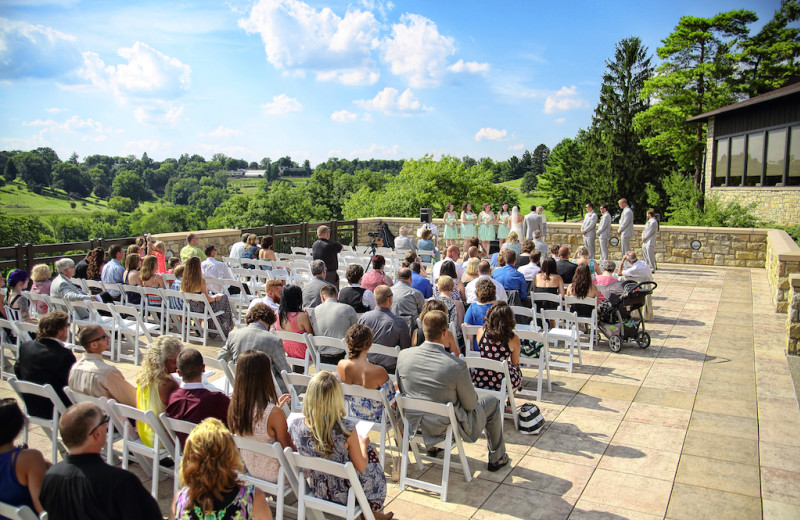Wedding ceremony at Oglebay Resort and Conference Center.