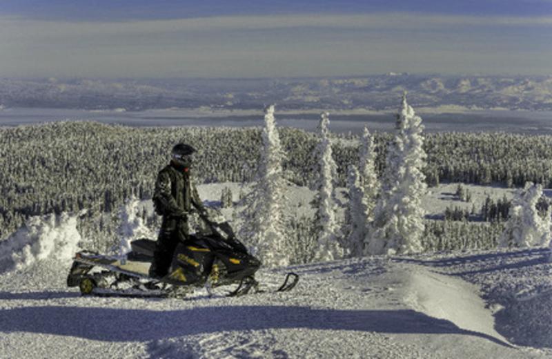 Snowmobiling at Kelly Inn West Yellowstone Hotel