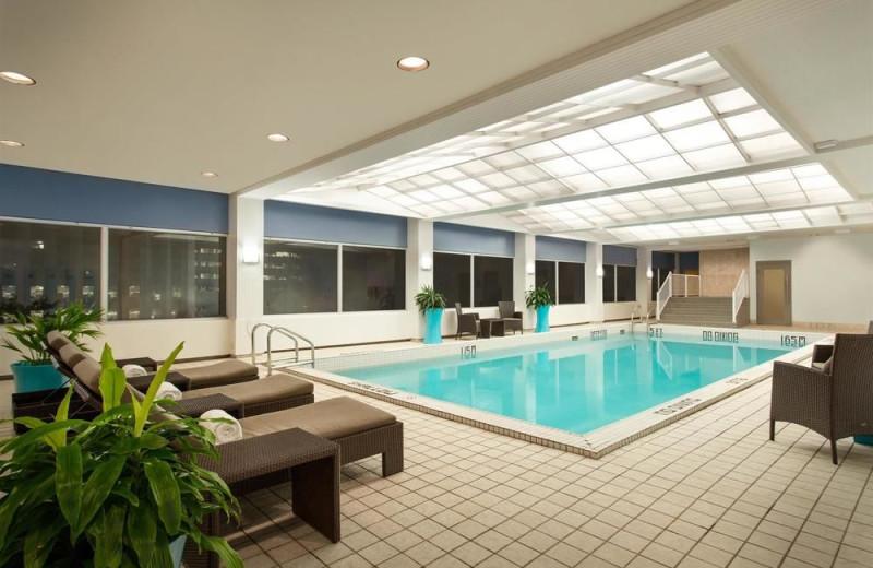 Indoor pool at The Fairmont Winnipeg.