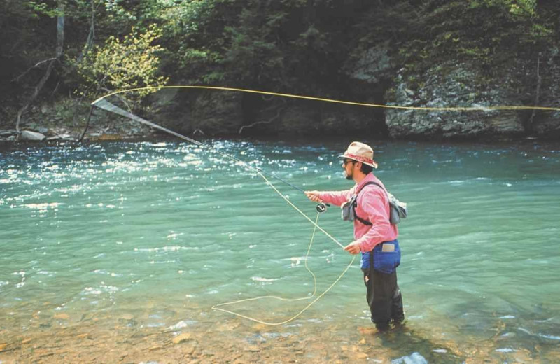 Fishing at Fort Lewis Lodge.