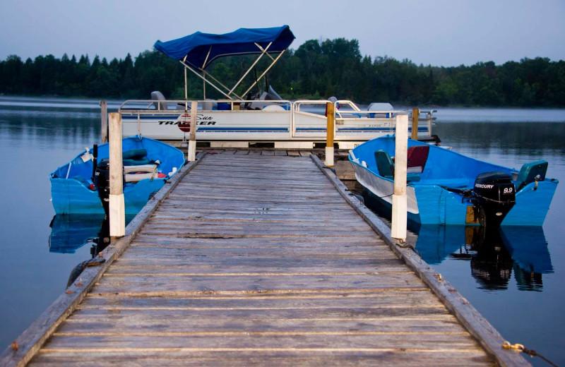 Dock at Island Lake Camp.