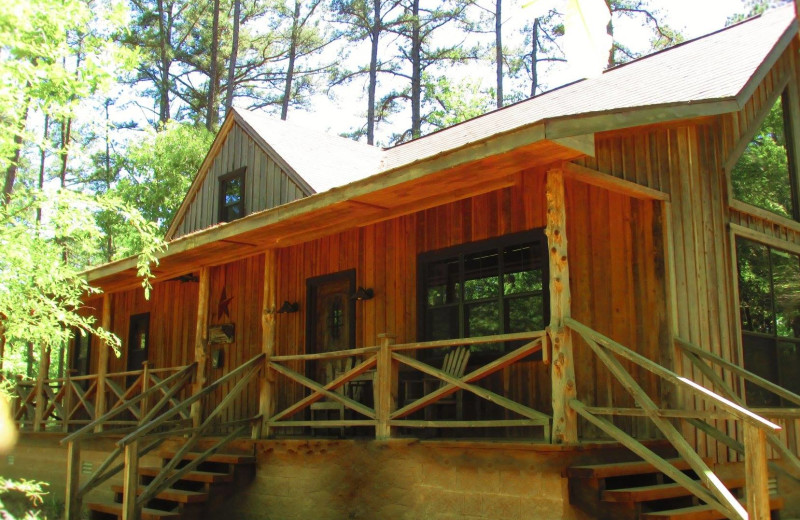 Cabin exterior at Hochatown Junction Resort.