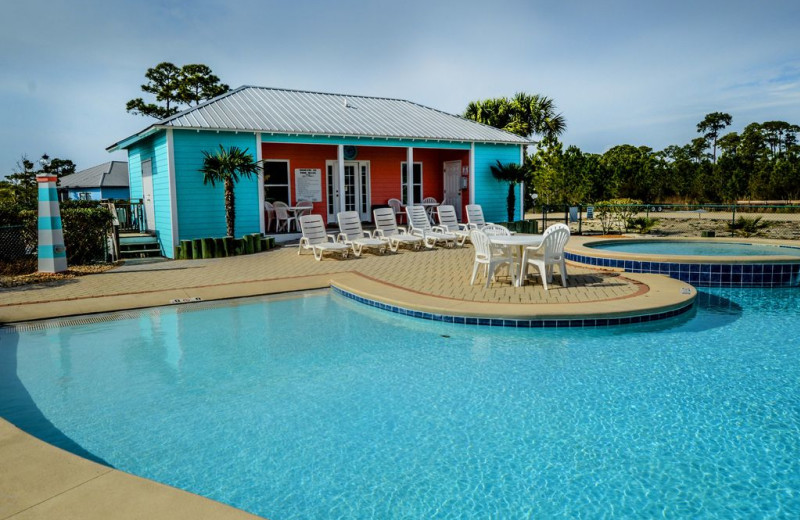 Rental pool at Luna Beach Properties.