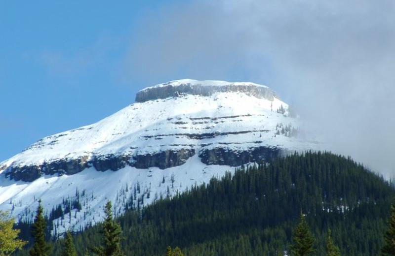 Mountains at Cheechako Cabins.