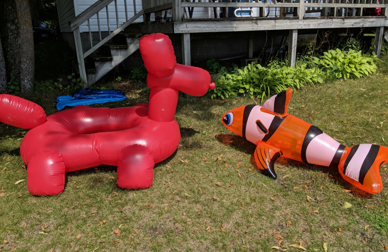 Floaties at Woodlawn Resort.