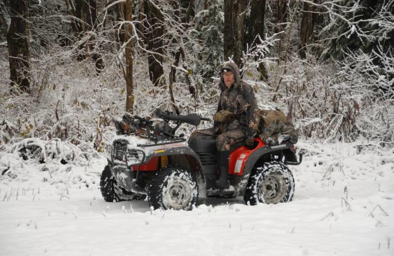 Winter ATV at S & J Lodge.