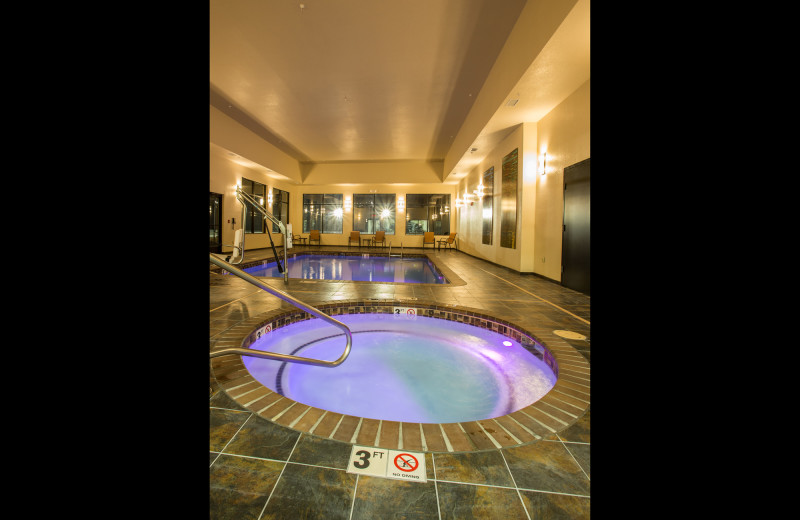 Indoor pool at Old Kinderhook Resort & Golf Club.