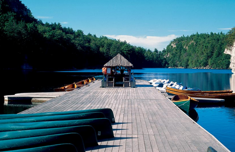 The dock at Mohonk Mountain House.
