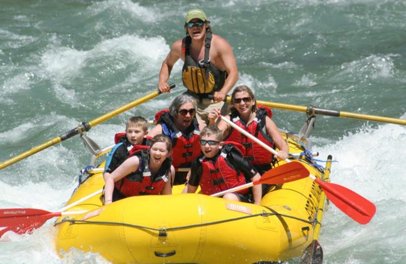 White water rafting at Great Northern Resort.