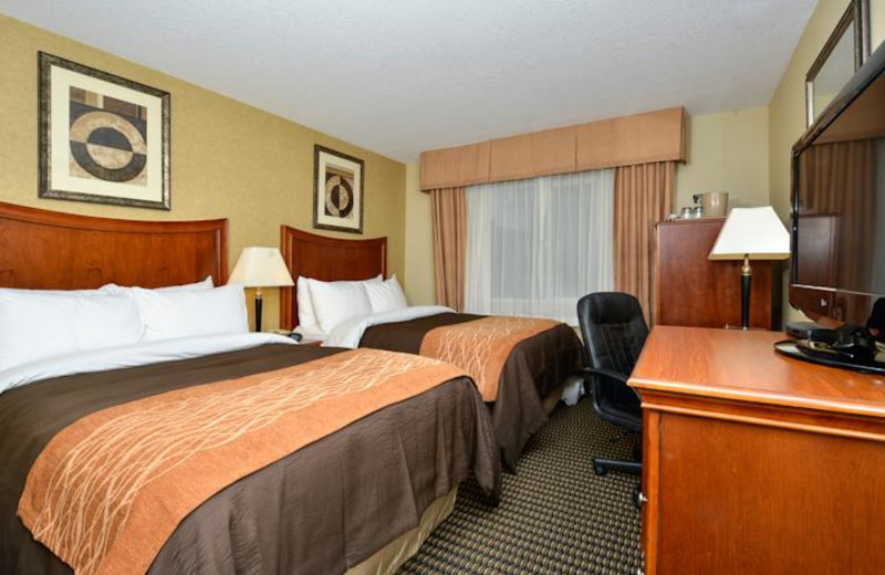 Guest room at Comfort Inn Suites Vancouver.