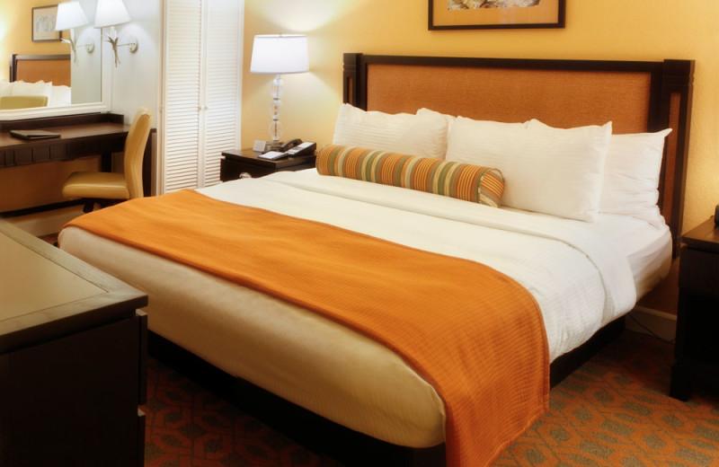Master Bedroom of a One Bedroom Unit at the Carlsbad Inn Beach Resort