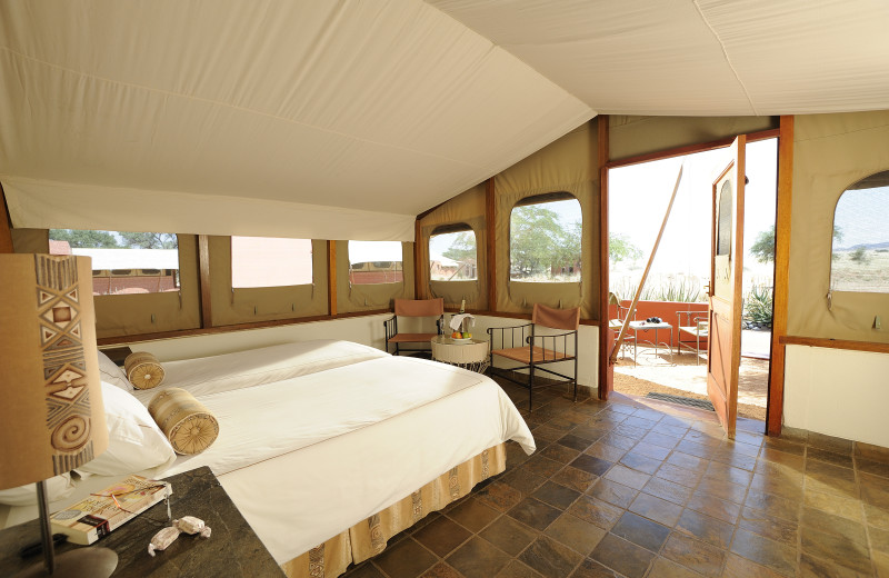 Guest room at Sossusvlei Lodge.