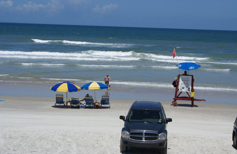 The beach at Daytona Shores Inn and Suites.