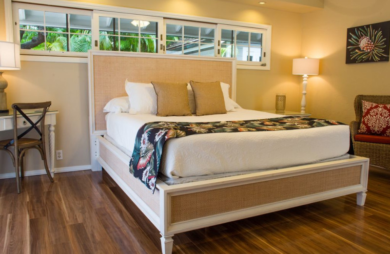 Rental bedroom at Hawaiian Vacation Rentals.