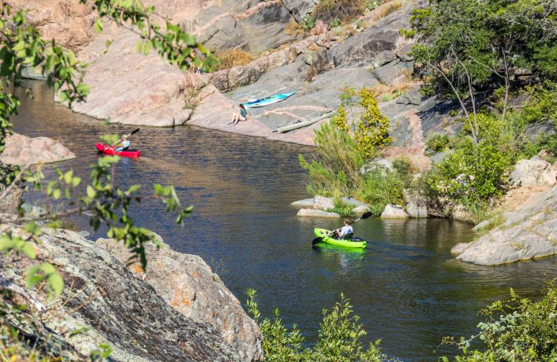 Kayaking near Spicewood Cottage by Lake Travis.