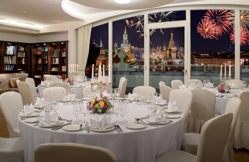 Dining at Hotel Baltschug Kempinski - Moscow.